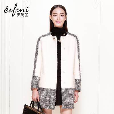 Yifu Li 2014 winter new women's round neck wool coat woolen coat woolen 6481147222