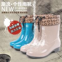 回力正品女士雨靴秋冬新款加绒保暖中筒雨鞋防滑水鞋水靴胶鞋套鞋