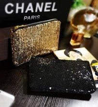 The new Europe and the United States local tyrants glitter gold envelope bag fashion super shiny piece of dinner small hand bag handbag