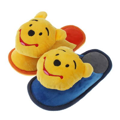 Genuine Disney children's slippers warm winter home slippers cute cartoon boy child bottomed cotton slippers