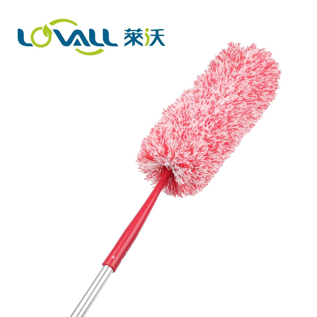 莱沃玛瑙尘掸 红色超细纤维不掉毛掸子 车用家用可弯曲伸缩可拆洗