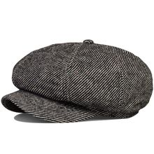 Autumn and winter hat for man Wool blended male hat octagonal cap male Cap male beret British man newsboy cap