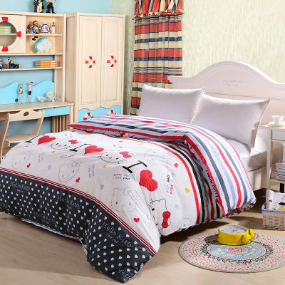 Healthy bedding cotton one-piece quilt cotton quilt single or double pastoral Korean cartoon quilt