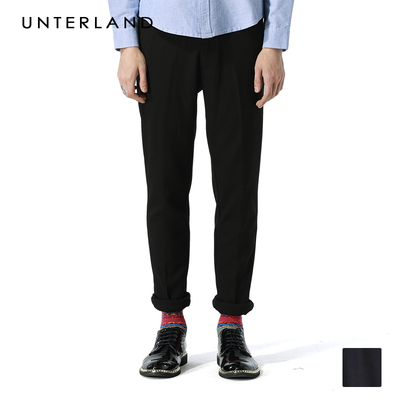 2014 autumn and winter new men's casual trousers straight thickening elastic tide Korean Slim feet long pants