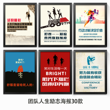 Motivational posters modern decoration enterprise school team has a box office corridor wall hanging pictures