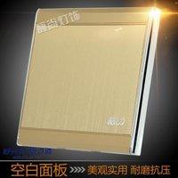 正品格力空白面板香槟金金属拉丝挡板墙壁面板开关暗装86型盖板