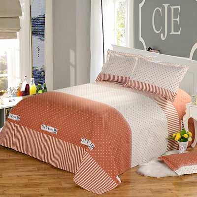 Hwacheon old coarse cotton printing cotton household linens Bucharest thick single double single piece of linen bedspreads