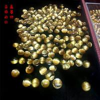 极品顺发钛晶戒面裸石 金发晶戒指 极品定制镶银18K金男女款