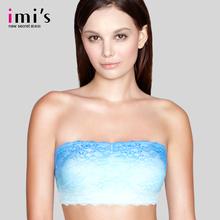 【专柜同款】IMIS爱美丽女内衣 时尚渐变花边模杯抹胸防走光文胸图片