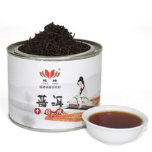 Long Yang Chen Puer ten years in yunnan tea loose tea ripe tea Chinese wind single canned 90 grams