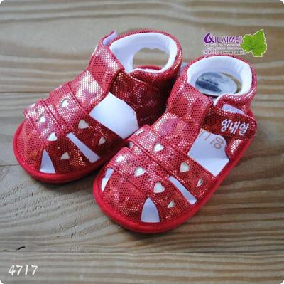 Korean brand infant baby boy girls Baotou sandals slip resistant and soft bottom toddler shoes magic posts