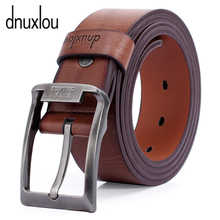 Dnuxlou belt for men Leather leisure wide leather belt Ms. Han edition of needle retaining the pure product