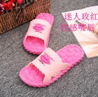 夏季新款女式塑料拖鞋居家浴室防滑一字拖室内平底男拖鞋情侣款