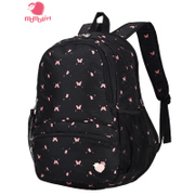 Momogirl shoulder bag Korean leisure travel computer backpack high school student bag junior high school female M5114