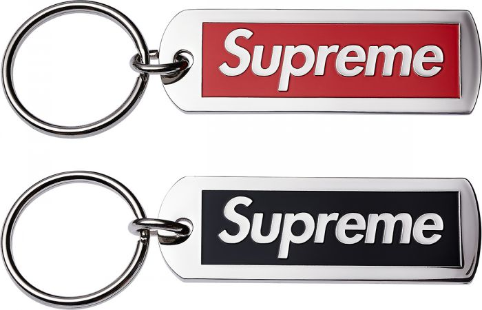 [Lis7en Up]Supreme 14ss Metal Tag Keychain 金属钥匙扣 复刻
