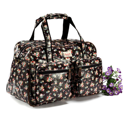 Floral Korean Nordic fitness package overnight bag ladies handbag Messenger bag luggage bag mummy bag
