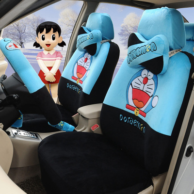 doraemon Cute cartoon car seat cover wool in winter Mazda 6 versa sunshine excelle vios POLO