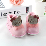 0-1 years old and a half men winter models baby shoes baby shoes soft bottom non-slip shoes toddler shoes KT Cat Leather Shoes