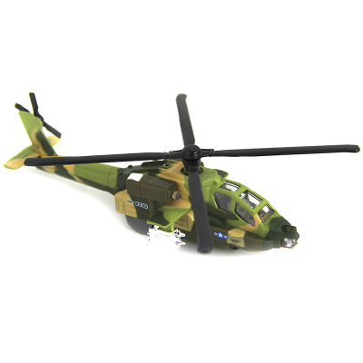 Diya many children toy aircraft model sound and light alloy version of Apache military helicopter back to power aircraft