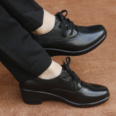 Rams Jinpin slope with soft-soled shoes in the shoe leather shoes with flat shoes mom shoes women shoes shoes in the elderly