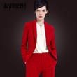 新廓型红色西装外套女长袖 短款小西装休闲修身女士西服春秋上衣