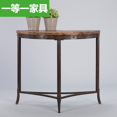 First a semicircular porch furniture wood table decoration table vestibule American country a few modern minimalist entrance