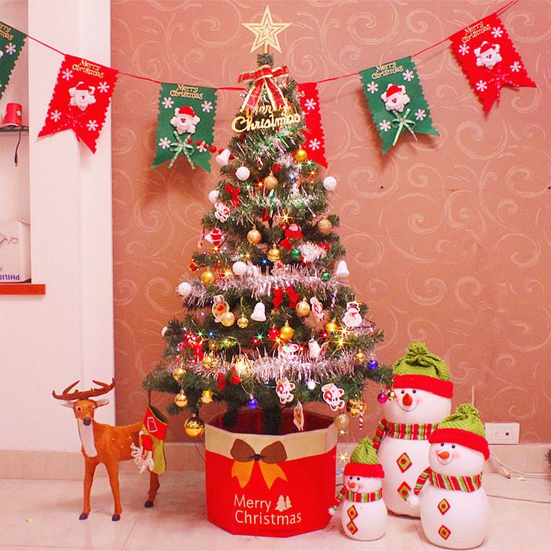 0.6米1.5米1.8米圣诞树套餐 圣诞节装饰品 豪华加密圣诞树套餐