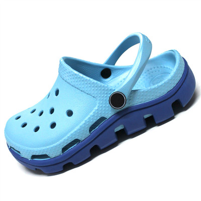 The new children boys and girls slip hole shoes for children in summer baby boy big virgin beach sandals slippers