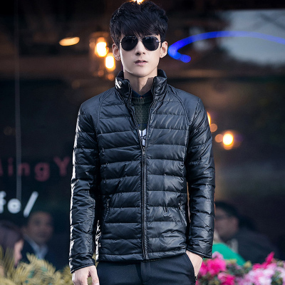 2014 winter new PU leather jacket men Slim Korean tidal thick collar men's jackets Weilang Ni