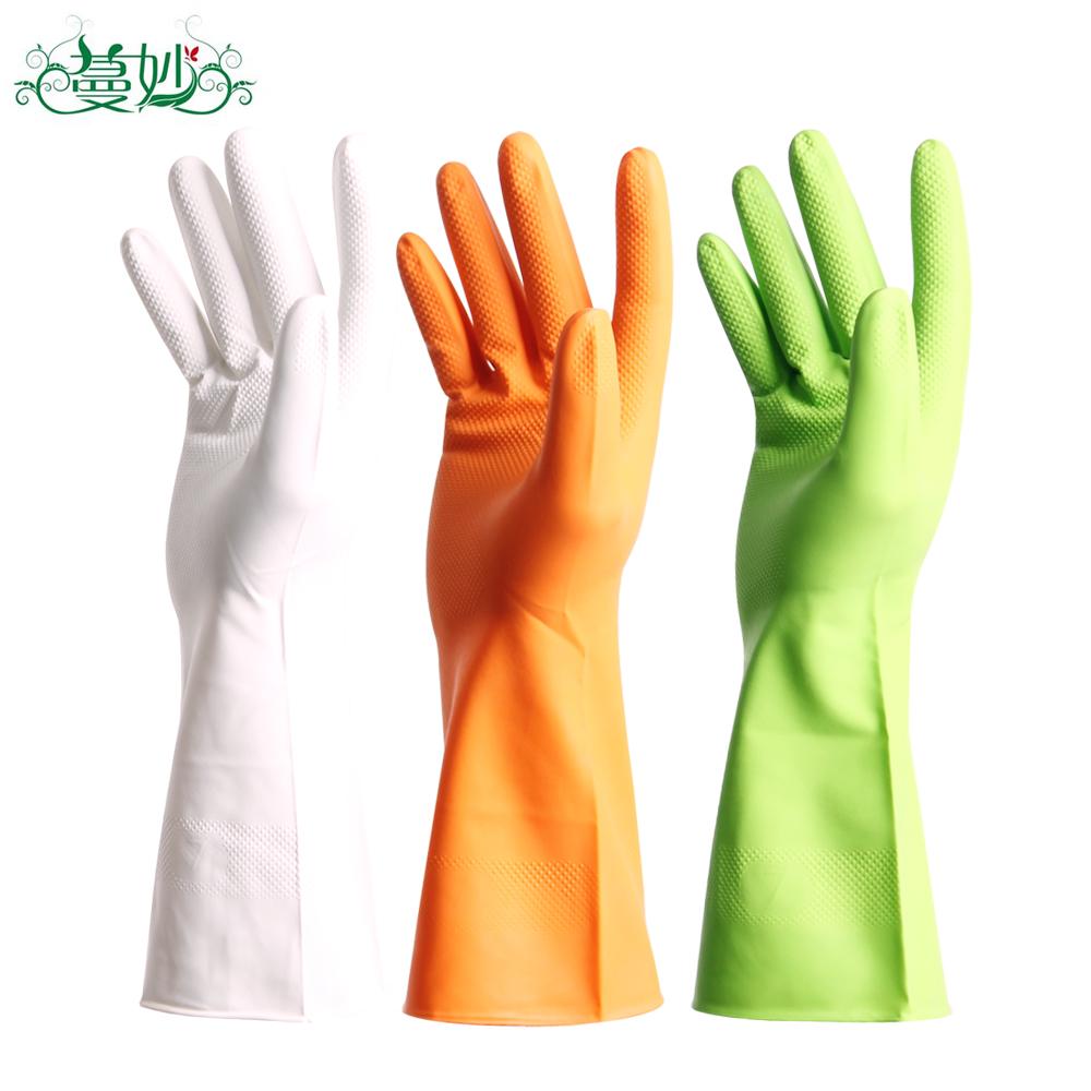 家务手套 洗碗手套耐用乳胶橡胶洗衣服胶皮防水手套