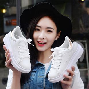 2016韩版春夏季运动鞋女休闲鞋女厚底板鞋女小白鞋女学生跑步鞋子