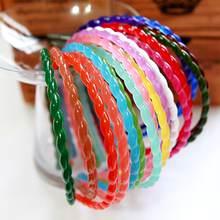 South Korea imported hair Aznavour jelly color basic candy color single twist twist a head hoop hair band