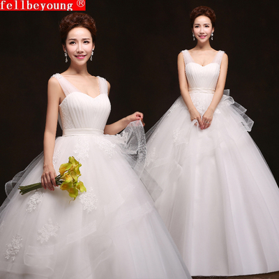 Sling was thin big yards pregnant women 2014 winter wedding dress new Korean version of the bride wedding waist shoulders Qi