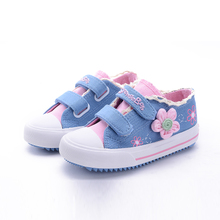 The new spring and autumn 2015 low canvas shoes for children Han edition breathable leisure cloth shoes big child sandals Women's shoes