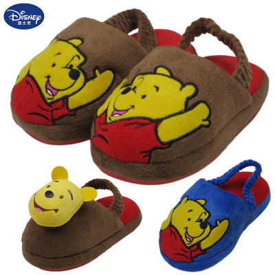 Disney Children's cotton slippers Boys Girls Shoes baby bag with heavy-bottomed shoes lovely warm winter home slippers home