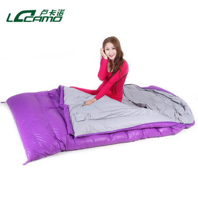 Locarno outdoor indoor sleeping bag lunch ultralight spring and summer adult couples camping double sleeping bag down