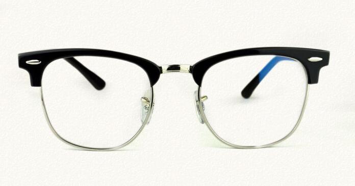 复古板材近视眼镜架男女近视镜架眉线框半框个性男图片