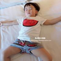 童装2015新夏装男女童西瓜T恤儿童短袖T恤亲子T恤母子装