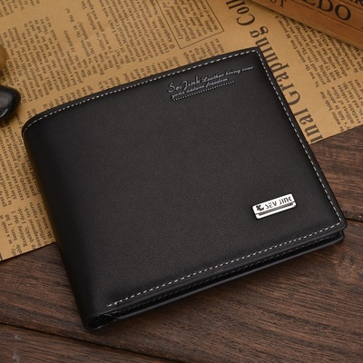 Casual wave of men wallet men wallet short paragraph section vertical cross-section of students personality Korean men wallet wallet