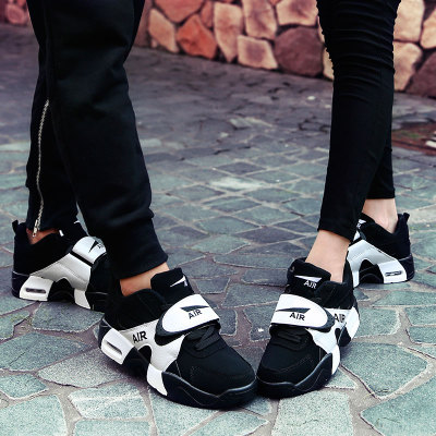 夏季网鞋透气垫运动休闲潮男鞋子板鞋潮流秋季增高情侣潮鞋跑步鞋