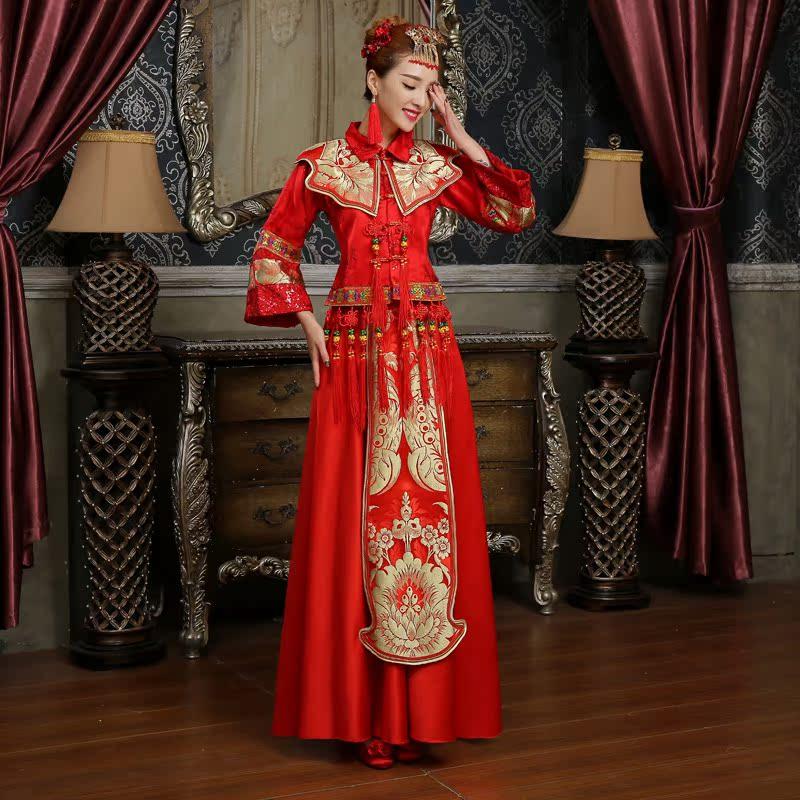 古装服装女秀禾服新娘礼服嫁衣复古旗袍中式结婚礼服敬酒服秀和服