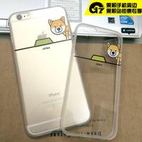 潮牌欧美风个性软壳iphone透明硅胶保护套苹果6 plus原宿手机壳套