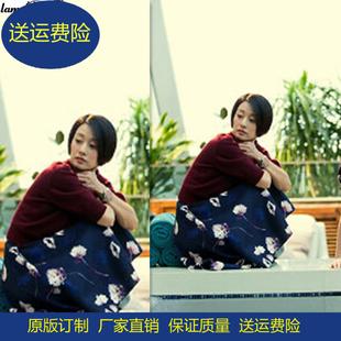 中国式关系马伊琍明星同款红色宽松时尚毛衣针织衫