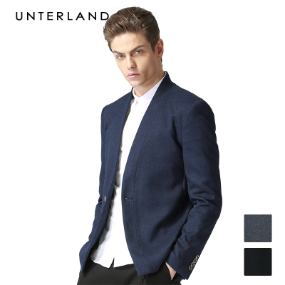 2014 autumn and winter new men's retro British collarless suit jacket Korean version of Slim wedding suit tide