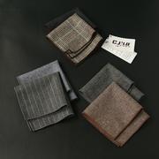 男士羊毛口袋巾简约小方巾 时尚轻奢配饰胸巾 商务正装英伦口袋巾