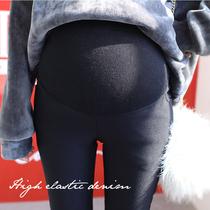 孕妇裤秋冬外穿棉裤新款黑色铅笔托腹裤大码孕妇裤子长裤秋冬款潮