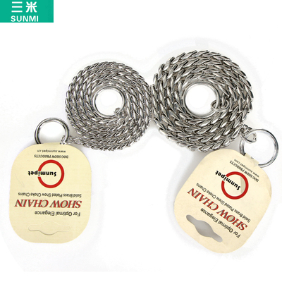Korea pet training game snake chain control chain leash dog chain leash P does not clip the hair silver snake chain chain 2.0