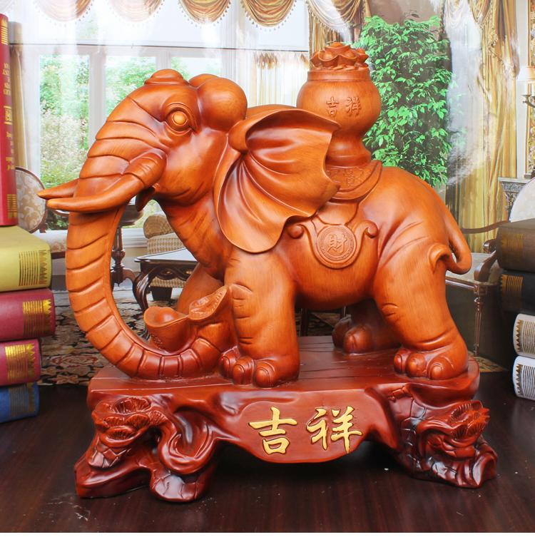 招财风水大象摆件 大号 创意时尚现代家居装饰品木象工艺品情侣象