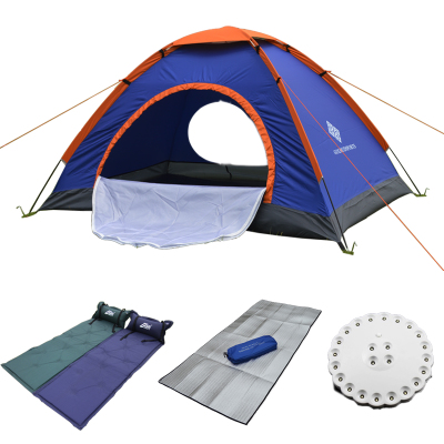 Golmud wing tent camping tent Double E Five-piece inflatable mattress package rain tent