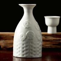 豪情仿古陶瓷白酒分酒器家用加厚酒具套装纯手工雕刻无铅陶瓷酒壶
